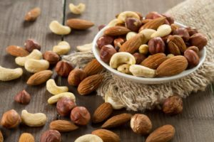 Nuts, a food that should be avoided after dental implant surgery
